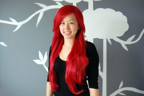 SALE: Phoenix - Red Superlong Wig - FREE SHIPPING