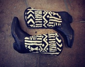 TRIBAL TAPESTRY cowboy boots sz 7