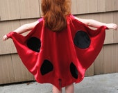 Handmade Child Cape Lady Bug Costume  Halloween Photo Prop Red Child Children Toddler Kids