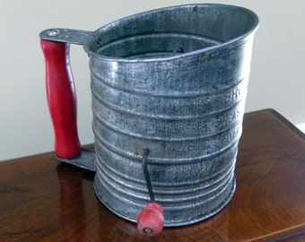 Antique Vintage Bromwell's Measuring Sifter