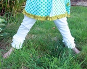 girls ruffle leggings by anna leigh made to order 12m 2t 3t 4t 5t gorgeous and playful