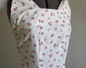 Vintage Repro Cherries Tie Strapped Dress