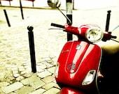 Paris Photography- Vespa Art- Home Decor- Paris Wall Art-   Paris France, Wall Decor, Vespa Photography, 8x10- Ride