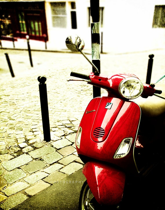 paris photography vespa art home decor paris wall by traceycapone. Black Bedroom Furniture Sets. Home Design Ideas