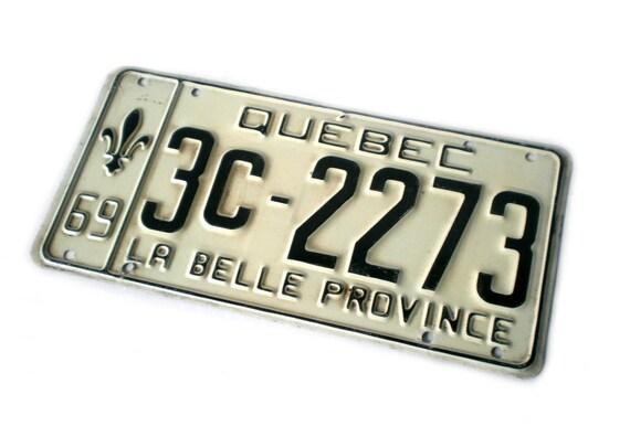 Quebec License Plate, Montreal Souvenier, La Belle Province, 1969