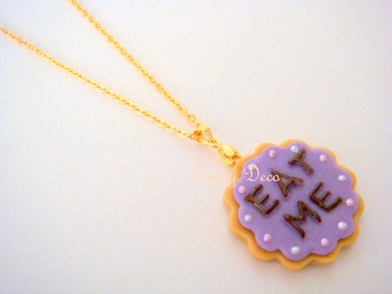 Eat Me Cookie Necklace (Pick One Color)