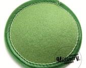 Sage Green Round Wool Felt Fascinator Hat Base With Velvet Trim