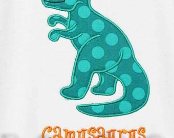 Personalized Dinosaur Custom Appliqued Shirt, Choose Your Own Fabric, Monogrammed,  Boys Birthday Shirt, Shirt,Tank,Bodysuit,Romper,Gift