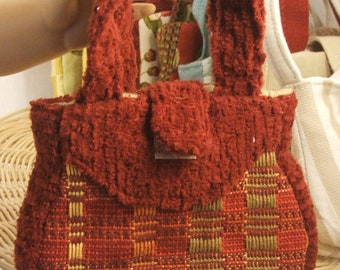 OOAK Miniature Red Designer Purse for American Girl