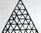 Pyramid, unmounted, hand carved, stamp