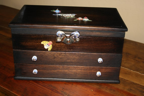 Large Vintage Jewelry Box upcycled
