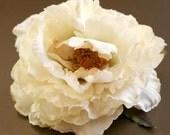 1  Cream Peony -  Beige Accents - Artificial Silk Flower - PRE-ORDER