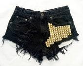 Boson short studded black cutoff shorts