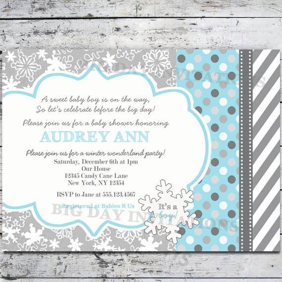 winter wonderland baby shower invitation by bigdayinvitations
