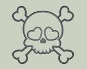 Sweet Girl Skull (add your own decor) Applique Design