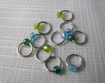 Monet Water Lilies - Ten Sock/Lace Snagless Stitch Markers