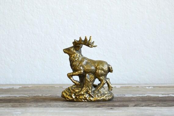 vintage brass elk deer