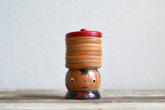 vintage wooden girl hat coaster set