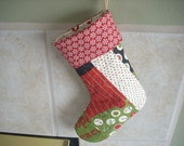 Quilted Christmas stocking - FREE SHIPPING