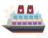 Items similar to Disney Cruise Ship Digital CLIP ART ...