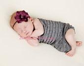 Deep Purple Flower Headband - Newborn Baby Toddler Girls Photography Props