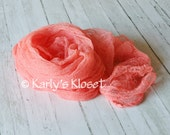 CLEARANCE Tangerine Cheesecloth Fabric Cocoon Baby Boy or Girl Wrap - Newborns Maternity Photography Props