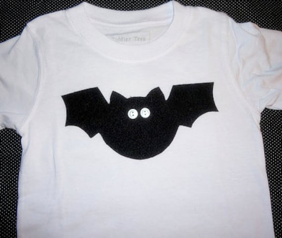 Halloween Shirt - Long Sleeve and Short Sleeve Onesie Tee Tshirt - Baby Toddler Boys and Girls - Bob the Bat