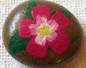 Pink Flower Rock Art