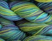 Handpainted Merino Wool Worsted Weight Yarn in Mermaid Cove