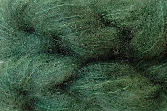 Mohair Yarn in Avocado Green