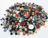 Large Colorful Button Lot, Unsorted Bulk Buttons, Vintage 1950s 1960s