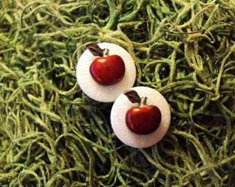 Once Upon A Time - Snow White Inspired Poison Apple Post Earrings - FREE US SHIPPING