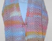 Crochet wrap - shawl wrap crochet clothing women winter - Damask Lace Wrap