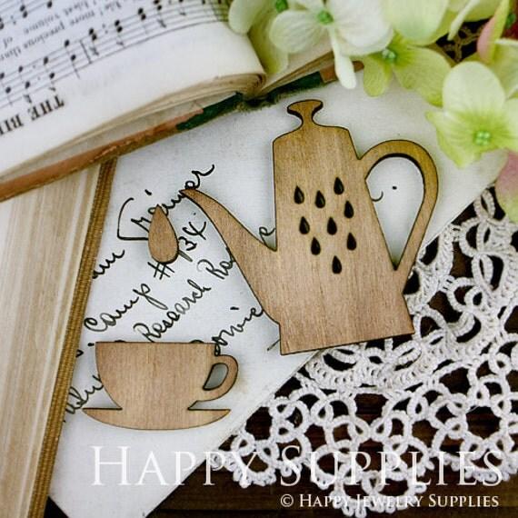 2 sets Handmade Lovely Tea Set Charms / Pendants  (LC004)