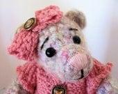 7 inch Penny OOAK crochet teddybear