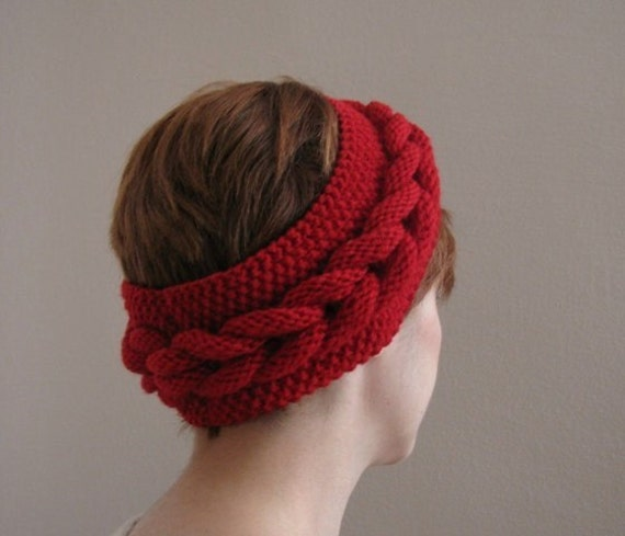 Red Knitted Headband