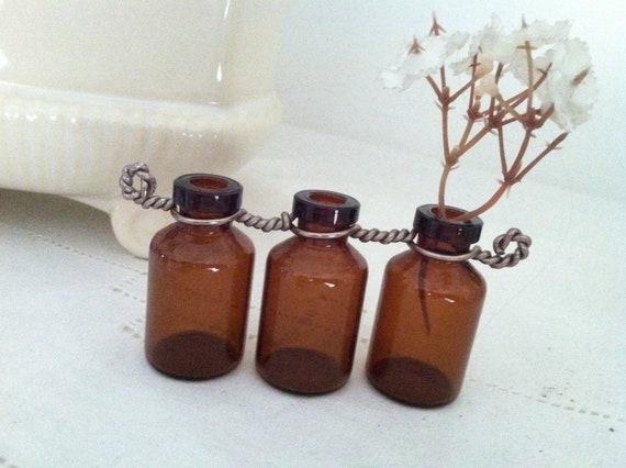 upcycle recycle rootbeer brown vase set
