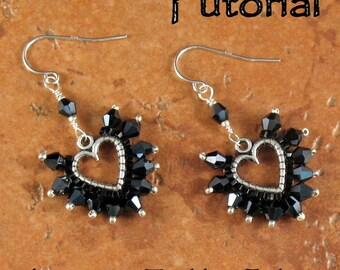 Tutorial and Two Metal Heart Charms - Sweet Hearts Earrings