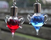 Miniature Amphora Potion Bottle Necklace, Choose One, Health or Mana