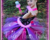 Rock Star Princess Punk Rocker Diva corset Tutu fairy dress 12m 18m 2t 3t 4t 5t 6/7