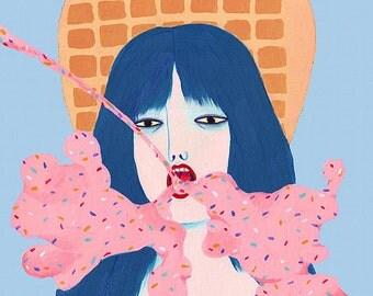 original artwork - ice cream ray