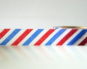 AIRMAIL Washi Tape Red and Blue Stripe Air Mail Pattern Pretty Tape