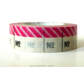 Hot Pink Washi Tape MT Stripe No. Japanese