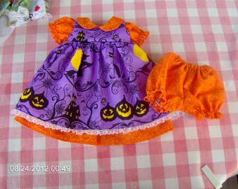 Halloween inspired dress set for 16 inch waldorf doll