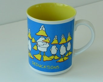 Vintage Tax Deductions Duck Tales Mug Cup by Enesco. Parent Duck and Ducklings. Deducktions. Quack.