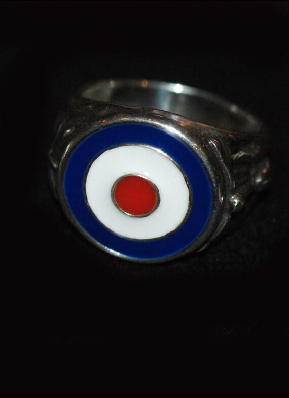 porcelain painted mod target ring
