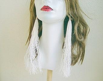 Extra Long Fringe Earrings Large Statement Earrings, Long Tassel Earrings Long earrings