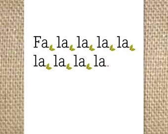 Fa, la, la Christmas Card