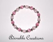 Light Pink & Pink Basic Cats Eye Bracelet