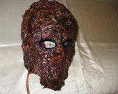 One of a kind leather Halloween Horror Mask